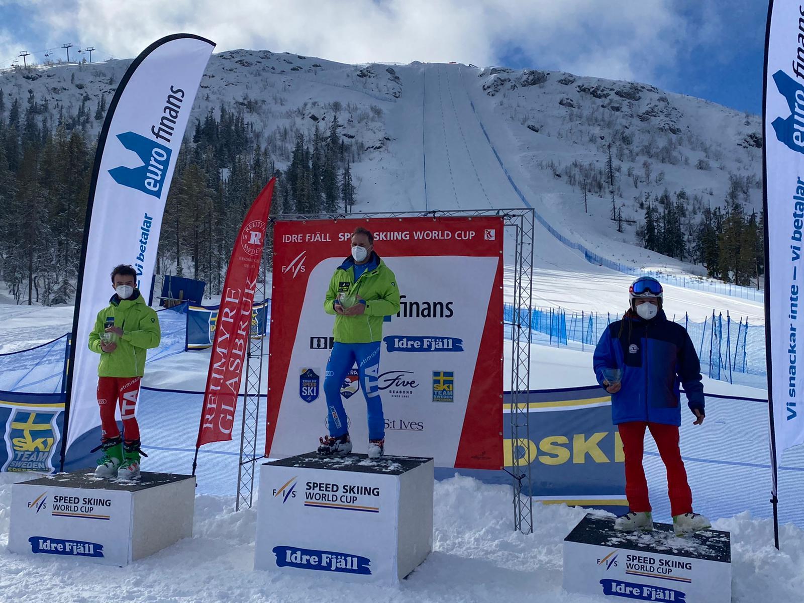 Borgonovo al primo posto e Parravicini al secondo posto in gara 2 a Idre Fjäll.