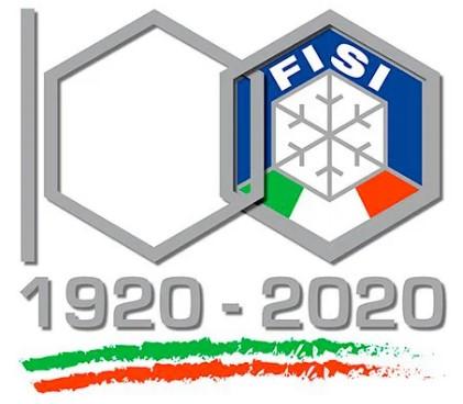 Logo dei 100 anni della FISI